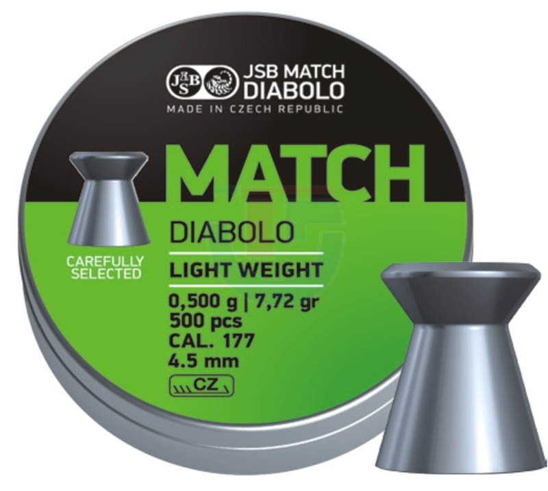 Пули JSB Match Diabolo light 0.475 г 500 штук